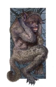 Origin of Lycanthrope, Gouache medium
